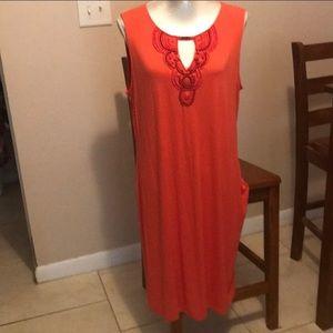 Dana Buchanan orange dress new with tags